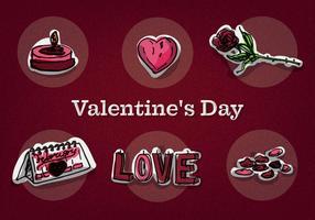Icônes gratuites du vecteur de la Saint-Valentin