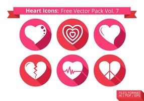 Heart Icons Free Vector Pack Vol. 7