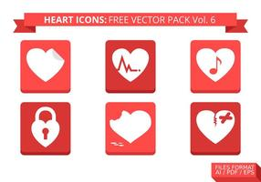 Heart Icons Free Vector Pack Vol. 6