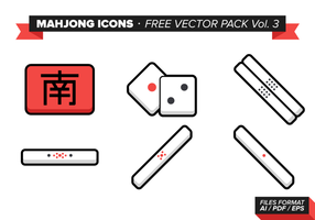 Mahjong Icons Free Vector Pack Vol. 3