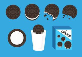 Vecteur d'illustration de cookies oreo