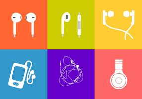 Six Different Ear Buds Vectors