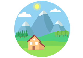 Vecteur de paysage de montagne gratuit