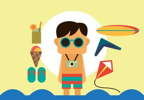 Gratis Beach Summer Vector Pack