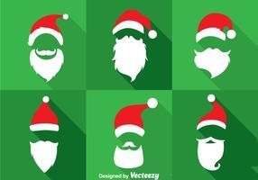 Ensembles vectoriels de collections de chapeaux et de barbes de Sinterklaas