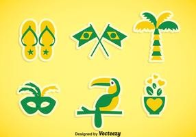 Brasil Element Icons Vector