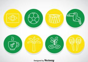 Icônes du cercle du Brésil