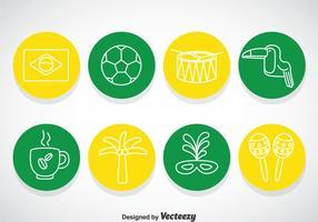 Brasil Cirkel Pictogrammen