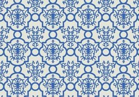 Blue Floral Pattern Background vector