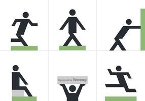 Ícones do vetor Free Man Posture