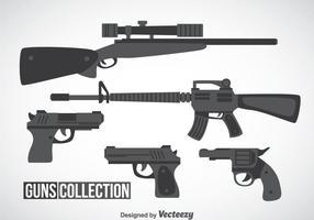 Guns colección de vectores