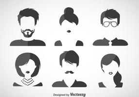 Hair Styles Vector Set