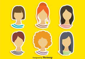 Girl Hairstyles Vector Sets