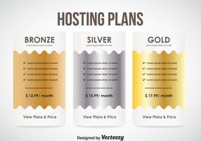 Hosting Plans Prijzen Tbale Template Vector