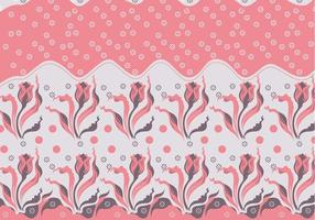 Batik Blommor Vector