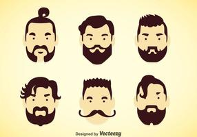Man Hairstyles Vector Sets