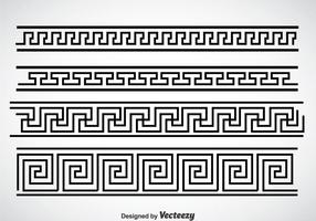 Greek Key Black Border Vector Sets