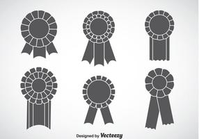Blank Grey Cockade Vector Sets