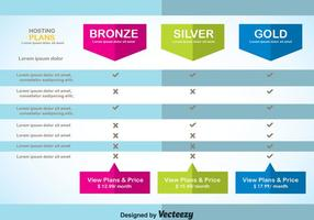 Moderne Pricing Table Template Vector