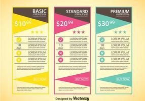 Modèle de table de prix