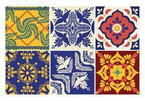 Azulejos del vector de Talavera