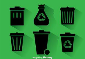 Dumpster Black Icons