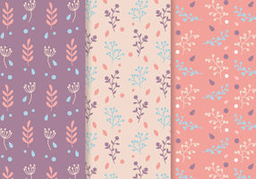 Gratis Seamless Plants Pattern Vector