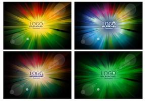Färgglada Logo Bakgrund Design Vektorer