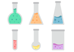 Vettore di vaso di chimica gratis