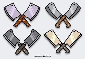 Cartoon Shiny Cleaver Vectors