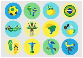 Braziliaanse Vector Pictogrammen