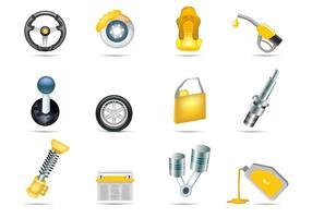Ícones de vetor de serviço de carro