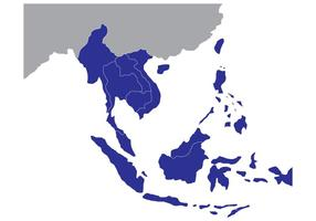 Free State Map of Southeast Asia
