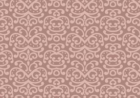 Pastell Blatt Muster Hintergrund Vektor