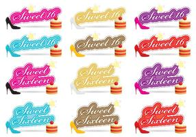 Sweet Sixteen Vectores