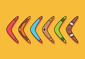 Freier Bumerang-Vektor