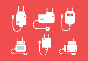 Gratis Flat Phone Charger Vector
