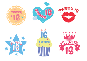 Vecteur gratuit Sweet 16