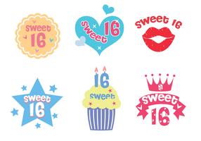 Free Sweet 16 Vektor