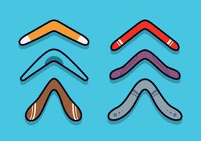 Vector libre del boomerang