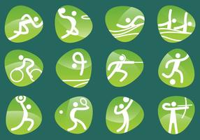 Pictogramas olímpicos vetoriais