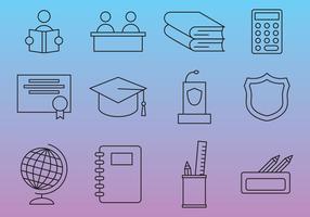 Icônes vectorielles des lignes scolaires