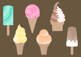 Vector de crème glacée à l'aquarelle gratuite