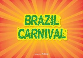 Ilustração colorida do vetor do carnaval do Brasil