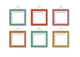 Assorted Color Vector Frames