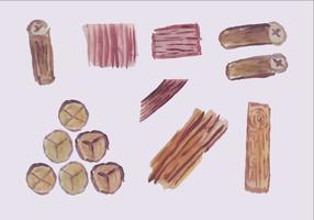 Freie hölzerne Logs Vector Pack