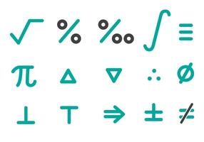 Free Math Icons Pack Vector