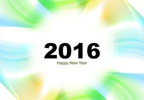 Gott nytt år 2016 hälsningskort