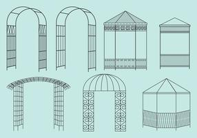 Metal Structure Gazebos vector