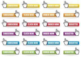 Mouse Click Pixel Button Vectors